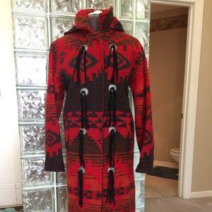 Woolrich Aztek print blanket coat / duster
